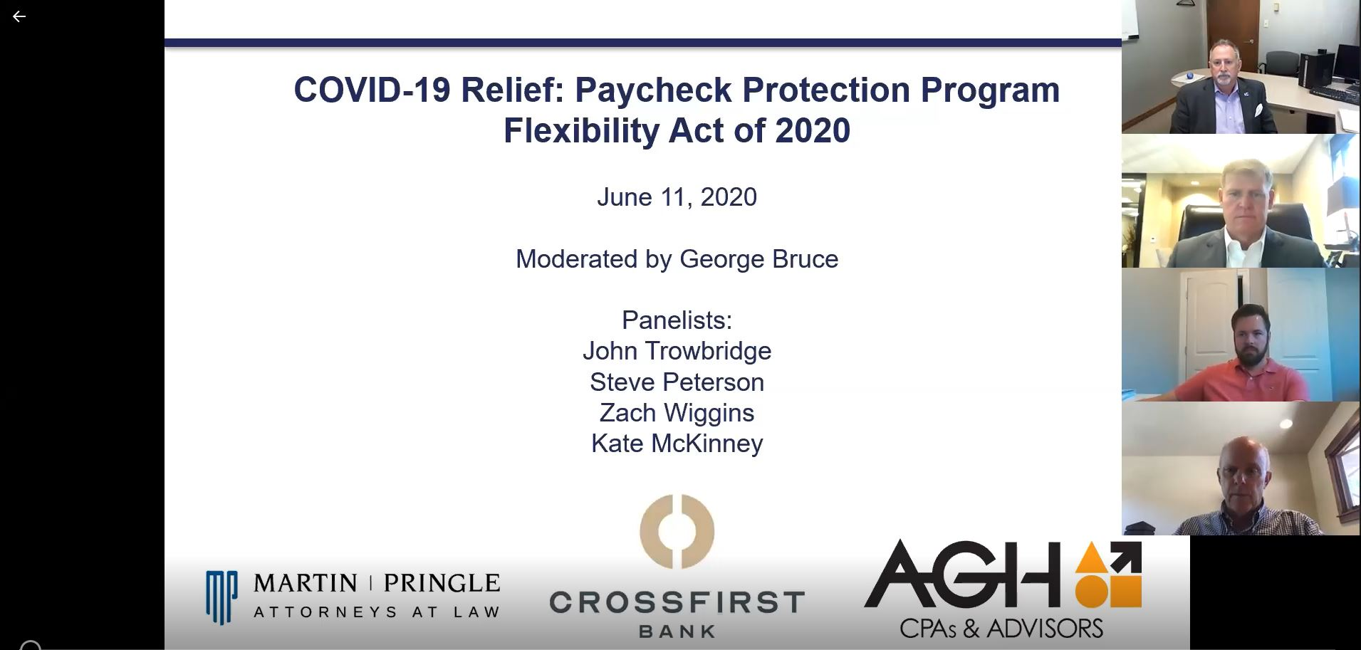 Webinar Video | COVID-19 Relief: Paycheck Protection Program Flexibility Act of 2020
