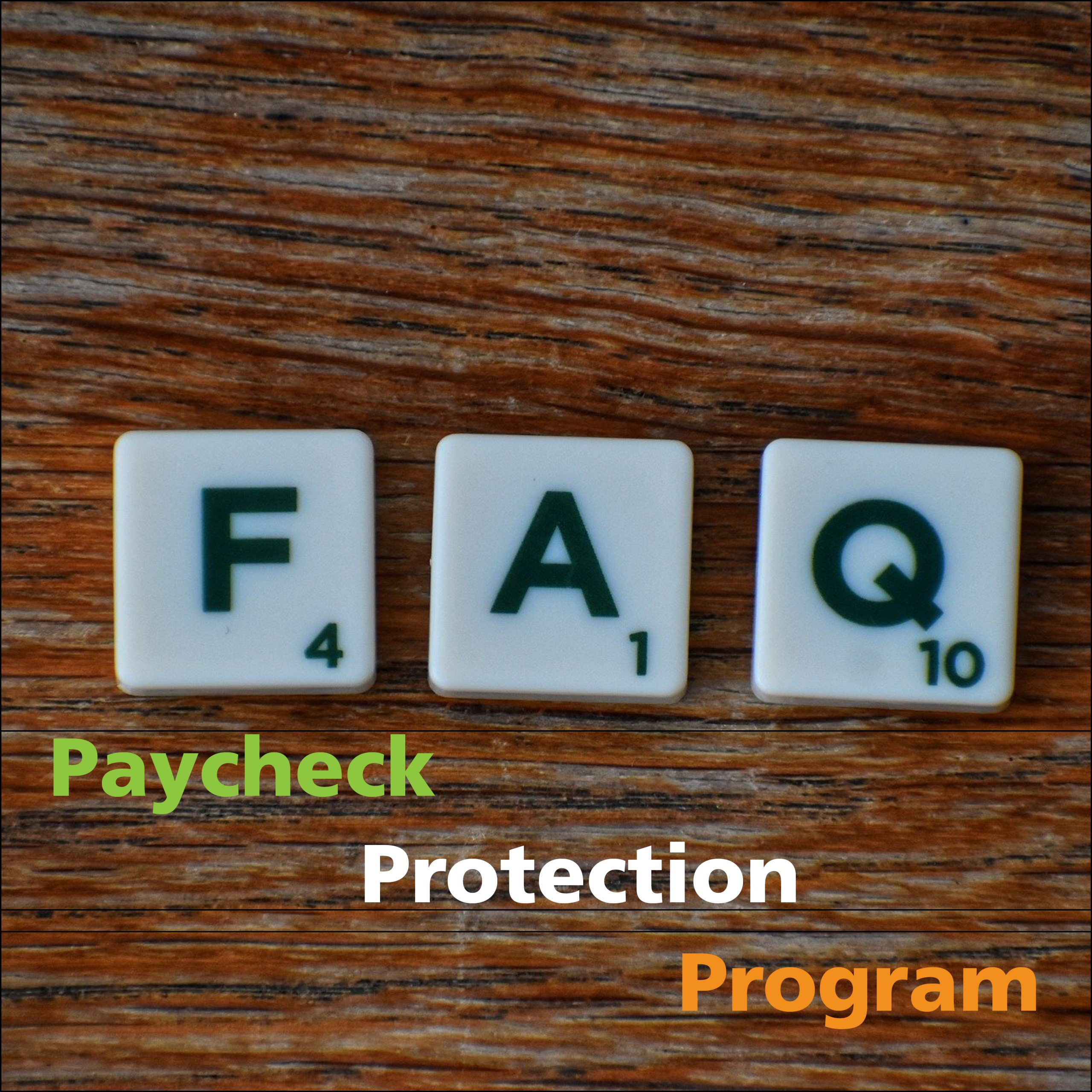 Treasury Issues New FAQ for the Paycheck Protection Program