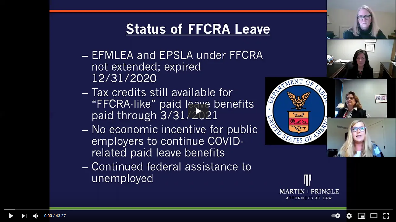Webinar Video | FFCRA Leave and COVID Vaccine Guidance: What Employers Need to Know