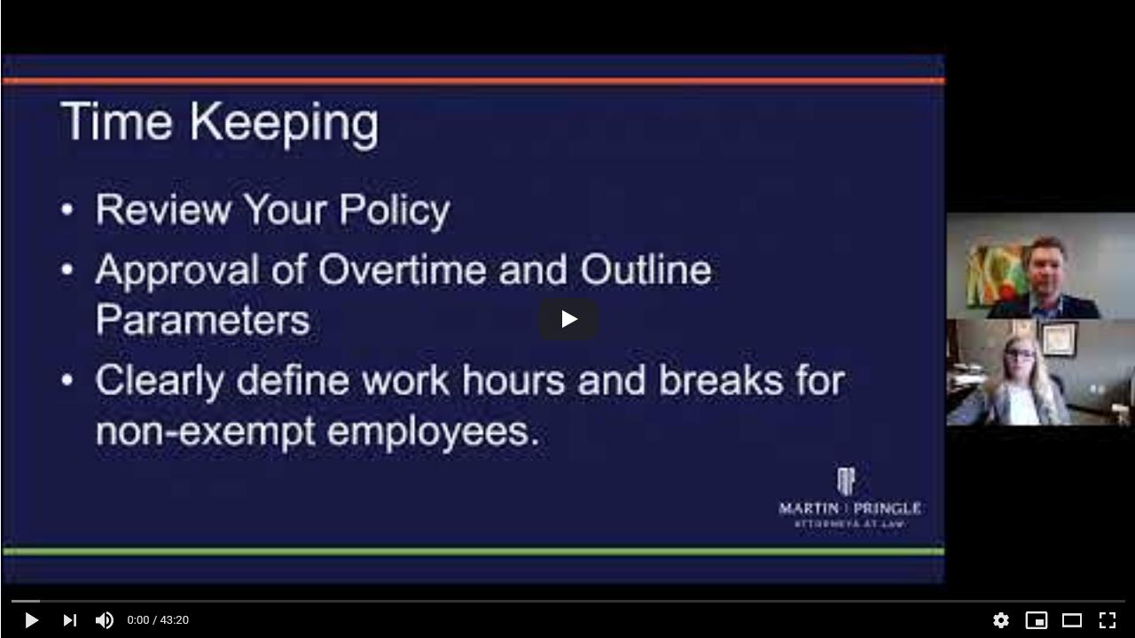 Employment Law Webinar: Tech in the Workplace