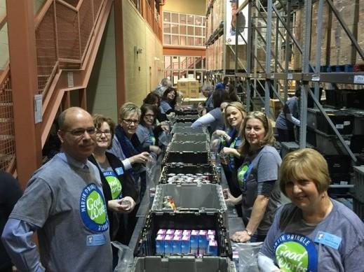 Martin Pringle's GoodWorks Volunteers at the Kansas Food Bank.
