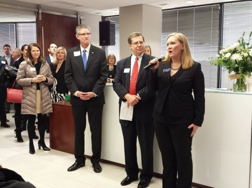 Martin Pringle's Overland Park office hosting a Leawood Chamber event.