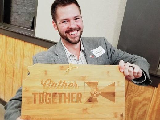 Zach Wiggins celebrating his Leadership Wichita graduation!