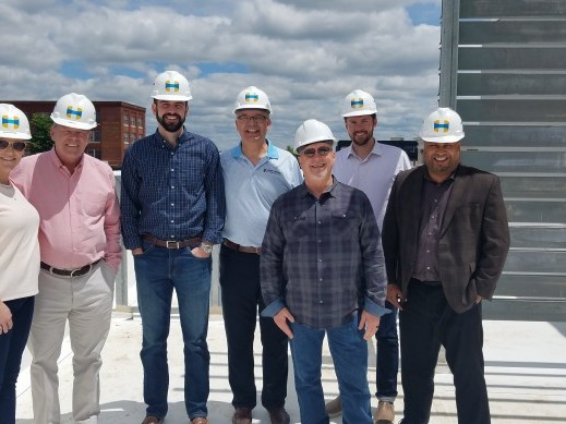 Martin Pringle Attorneys checking out the progress on our Wichita office build.