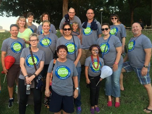 Martin Pringle's GoodWorks volunteers at the Light the Night event.