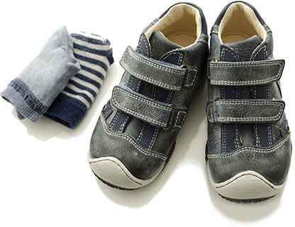 Child's shoes and socks